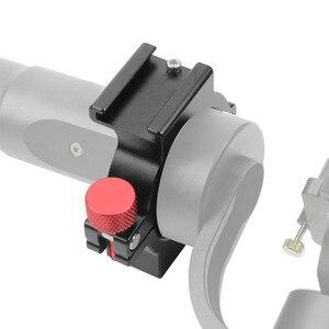 Image 3 - 4 кольцевой адаптер для горячего башмака, Кольцевое крепление для микрофона с адаптером Magic Arm для Zhiyun Smooth 4 ручного шарнира, аксессуары для цифровой зеркальной камеры