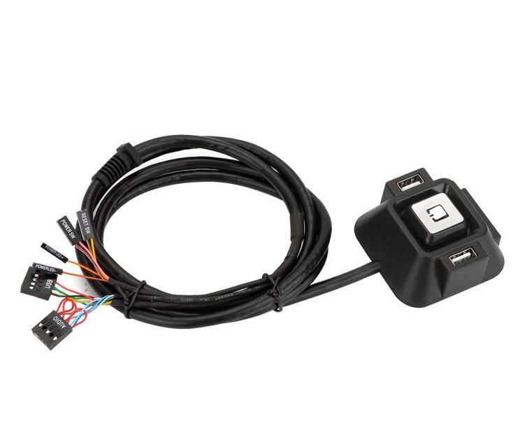Фотография Кабель для PC с кнопками включения, USB и аудио-выходами