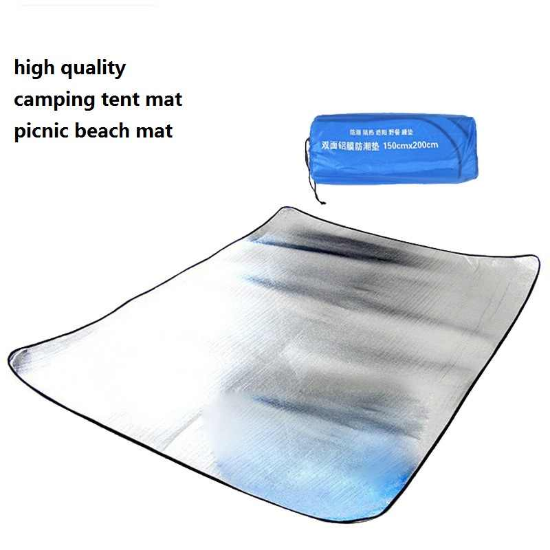 1-2x2M Ultralight Outdoor Camping Beach Picnic Mat Waterproof Aluminum Foil EVA Foldable tent Sleeping Mattress Pad