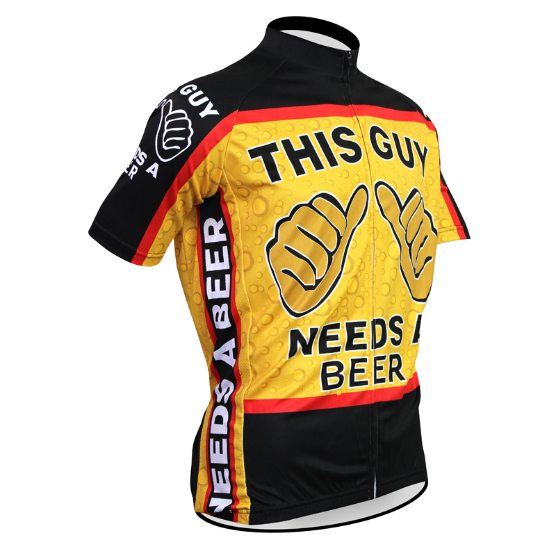 Top This Guy Needs A Beer Sportswear Mens Cycling Jersey Cycling