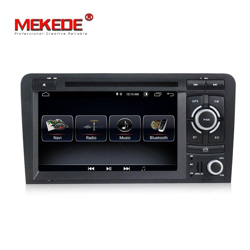Android 8.0 voiture dvd cd lecteur multimédia avec gps système de navigation pour Audi A3 S3 Audi A3 S3 2003- 2011 soutien CFC wifi BT FM