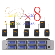 Wireless System UR-8188 Professional Microphone 8 Channel UHF