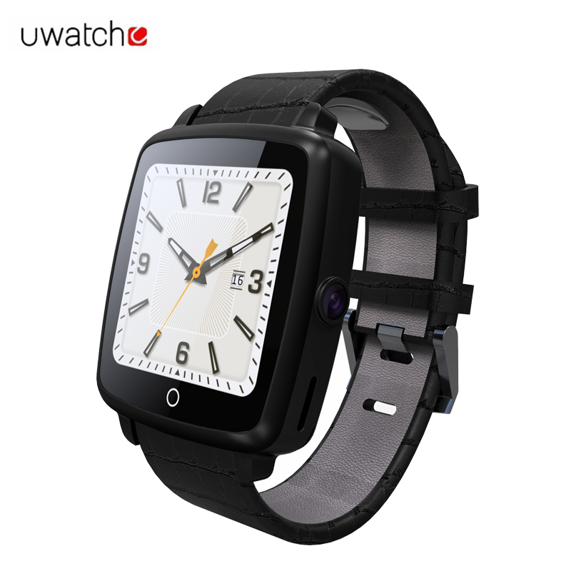 Uwatch U11C Leather Strap Bluetooth Smart Watch Support Micro SIM Card Video Play for Apple IOS/Android Phone Samsung Smartwatch