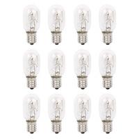 120 V 25 Watt Lâmpada de Sal Do Himalaia Lâmpadas de Vidro De Substituição de Lâmpadas Incandescentes E12 Socket 12Pack|Estatuetas e miniaturas| |  -