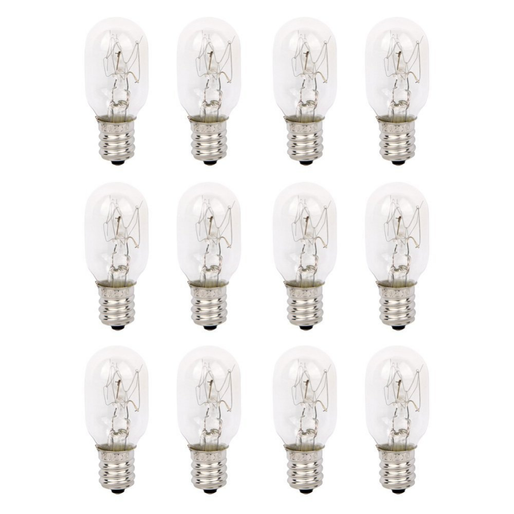 120V 25 Watt Himalayan Salt Lamp Light Bulbs Incandescent Replacement Glass Bulbs E12 Socket-12Pack