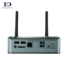 Micro computer Quad Core celeron J1900 nuc Intel HD Graphics 2 lan up to 2.42GHz nettop mini pc slim tv box 4G RAM 64G SSD