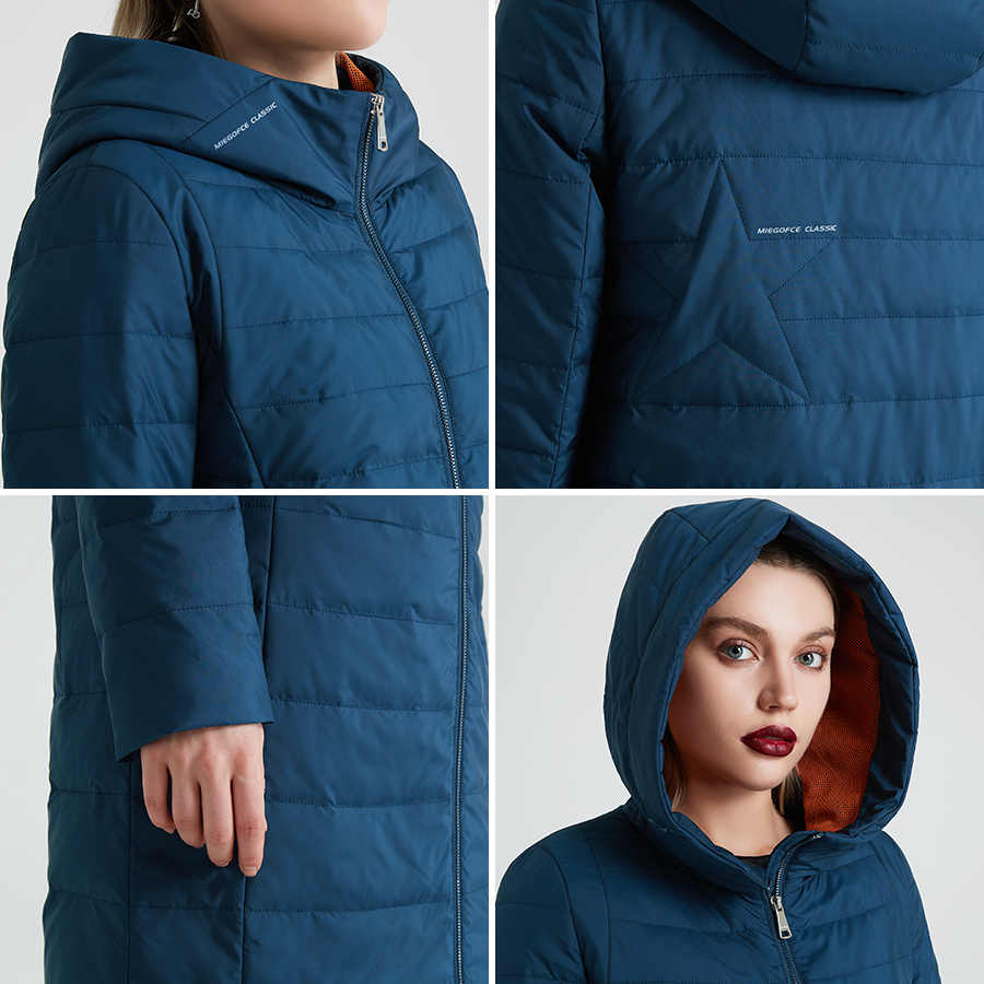 MIEGOFCE 2020 ฤดูใบไม้ผลิและฤดูใบไม้ร่วงเสื้อผู้หญิงผ้าฝ้าย Windproof หมวกผู้หญิงเสื้อกันหนาวแฟชั่นเสื้อกันหนาวเสื้อกันหนาวแฟชั่นบางส่วนหญิงออกแบบใหม่