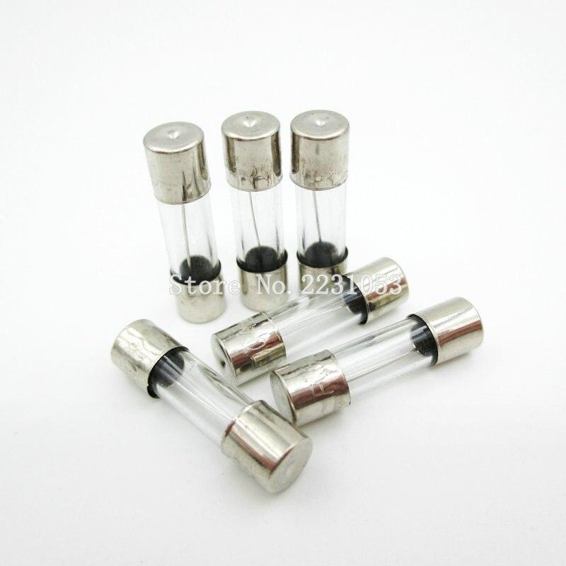 20PCS/LOT 5x20mm Fast Glass Fuses 6A/250V 5*20 Insurance Tube 250V 6A Fuse