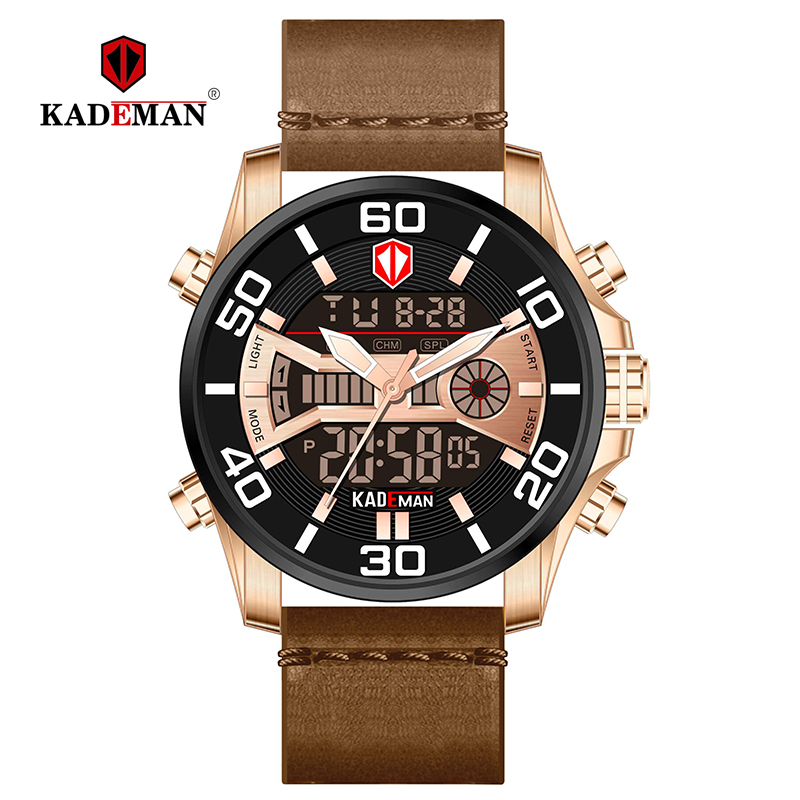 TOP Brand KADEMAN Military Sport Men Watch Luxury Waterproof Dual Display Watch Men Digital Male Wristwatch Relogio MasculinoTOP Brand KADEMAN Military Sport Men Watch Luxury Waterproof Dual Display Watch Men Digital Male Wristwatch Relogio Masculino