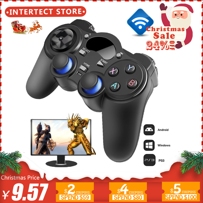2,4g Gamepad inalámbrico Android Joystick Joypad con OTG Convertidor para PS3/teléfono inteligente para Tablet PC inteligente caja de TV
