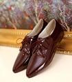 Новые прибытия вскользь женщин острым носом ботинки loafer узелок оксфорд обувь черный