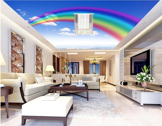 3d Mural Tapete Rainbow Himmel Wolke Decke Tapeten Für Wohnzimmer Wand  Dekoration Fresko Vliestapete