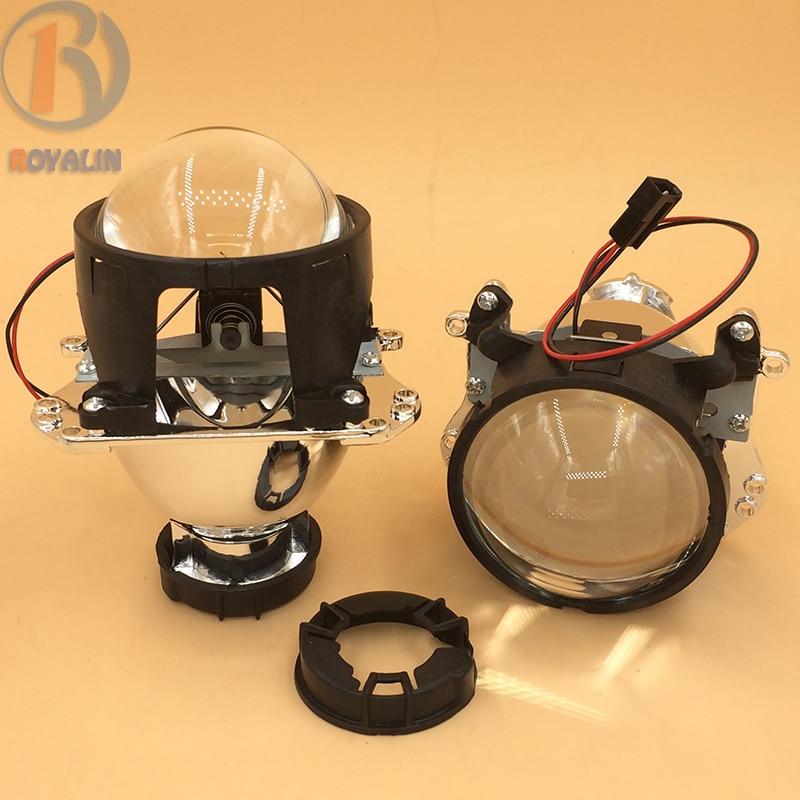 ФОТО ROYALIN Bi Xenon HID Projector Headlights Lens 2.8