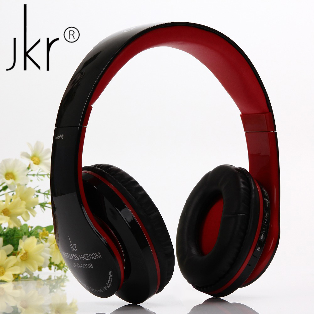 JKR-213B Headband Bluetooth Headphones Stereo Wireless Headsets with Mic TF FM Radio Handfree Calls Noise Cancelling Headphone