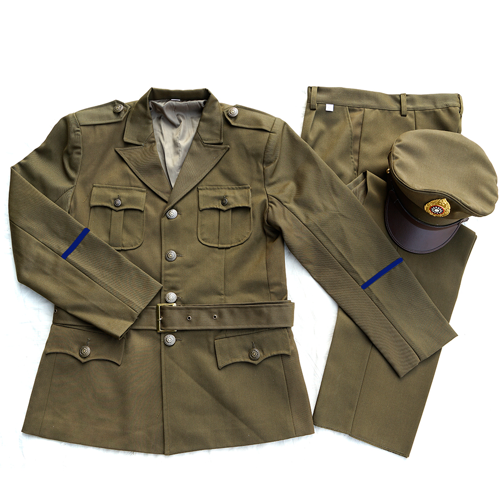 WW2 CHINA KMT LIEUTENTANT AMERICAN STYLE UNIFORM SUIT DARK YELLOE