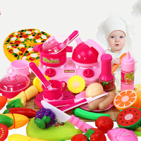Pretend Play Kitchen Set Toys Plastic Mini Juicer Toy Fruit Tableware Kitchen Ware Miniature Game Funny