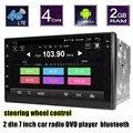 Nova chegada espelhamento de tela Android 6.0 4G Wifi Car DVD GPS 2 din Bluetooth Stereo Radio Player 7 polegada