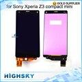 """Nova testado lcd para sony xperia z3 mini z3 compact d5833 d5803 display + toque assembléia digitier tela 4.6 """"1 pcs frete grátis"""
