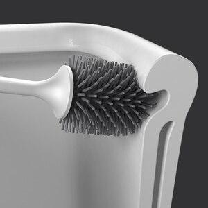 Image 2 - ONEUP TPR 부드러운 화장실 브러시 헤드 벽 마운트 또는 바닥 스탠딩 화장실 브러시 가정용 청소 도구 욕실 액세서리 세트