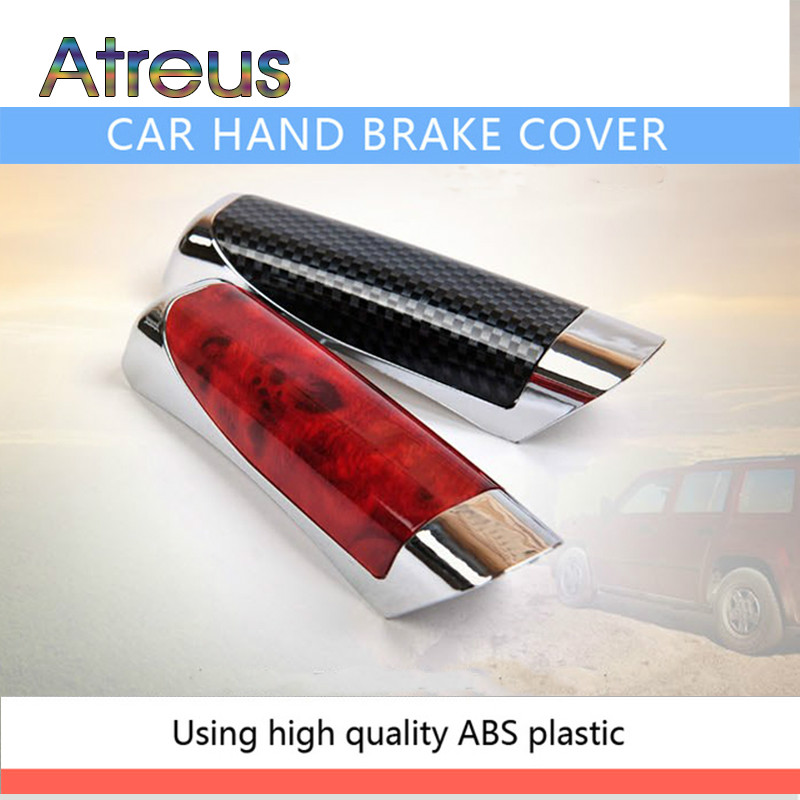 Atreus Car Handbrake Protector Cover Decoration For BMW E46 E60 Ford Focus Mazda 3 Volkswagen Polo Golf 4 Skoda Octavia Kia Rio