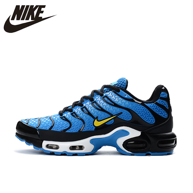 on sale a911b c1fc1 New Arrival Official NIKE AIR MAX TN Men's Breathable Running shoes Sports  Sneakers platform KPU material