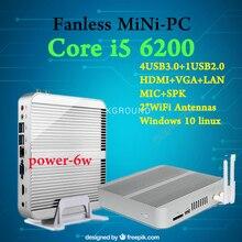[6Gen Intel Core i5 6200U] 3 года гарантии EGlobal Win10 Mini PC безвентиляторный des K Топ 4 К HTPC Intel HD Graphics 520 HTPC tv box