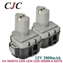 2×12 V Ni-MH 3000 mAh batería para MAKITA 1234 1233 1235F 192698-8 193157-5 baterías herramientas inalámbricas Power Drill