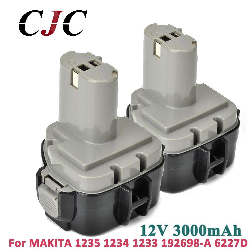 2x12 v Bateria Ni-MH 3000 mah Para MAKITA 1234 1233 1235F 192698-8 193157-5 Baterias cordless Ferramenta Furadeira