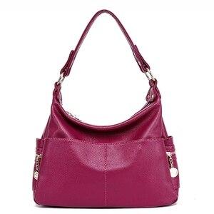 Image 3 - جلد طبيعي ريترو المرأة حقيبة السيدات حقيبة/حقيبة كتف المرأة Crossbody حقيبة ساعي حقائب اليد النسائية