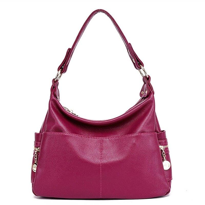Image 3 - Genuine Leather Retro Women Bag Ladies Satchel/Shoulder Bag Women  Crossbody Messenger Bag Female Handbags Totes Bolsas Femininabolsa  femininabag women crossbodyfemale handbags