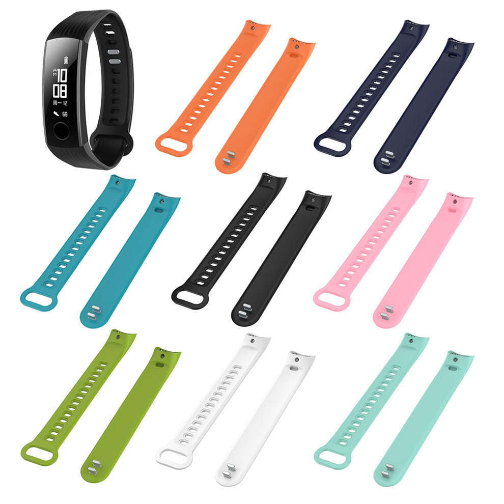 Wristbands For Tracker Accessories TPE Sports Wrist Band Bracelet Strap For Huawei Honor Band 3 Smart Fitness Tracker 11.26