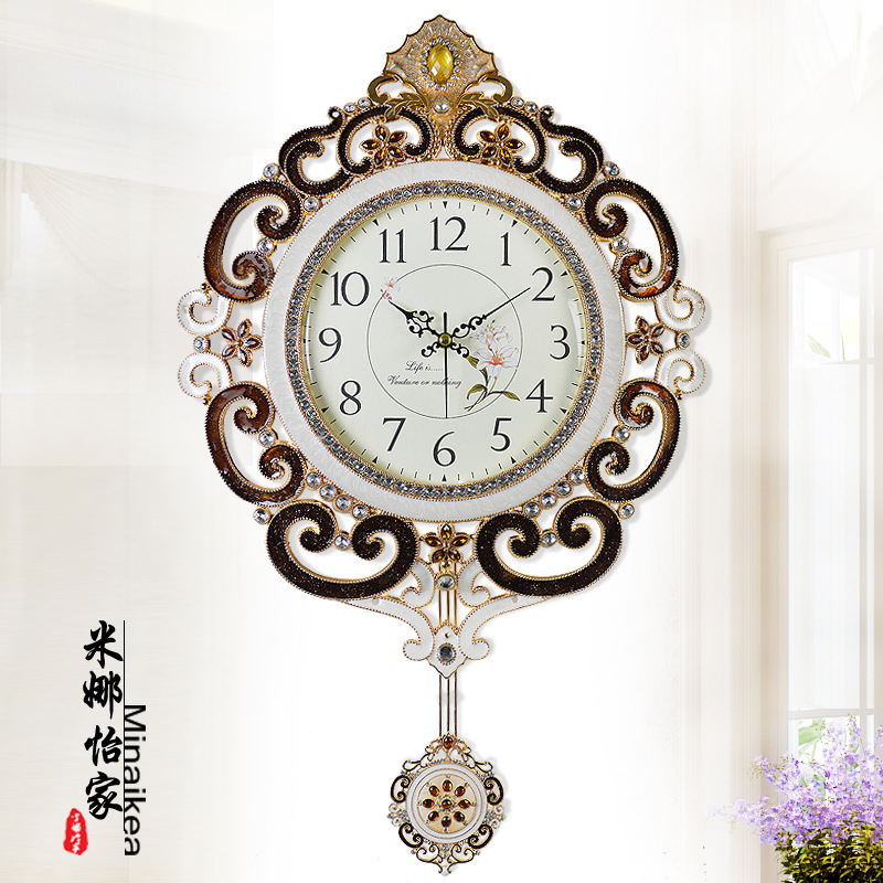 Aliexpress Buy Q 25 Inches Large Wall Clock Swing Mute Clock