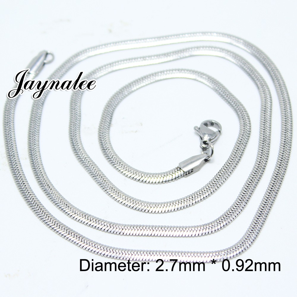 Jayna jewelry factory 55CM Pendant chain snaps jewelry fashion chain 55CM alloy necklace chain fit snaps buttons snaps pendents GS1403004