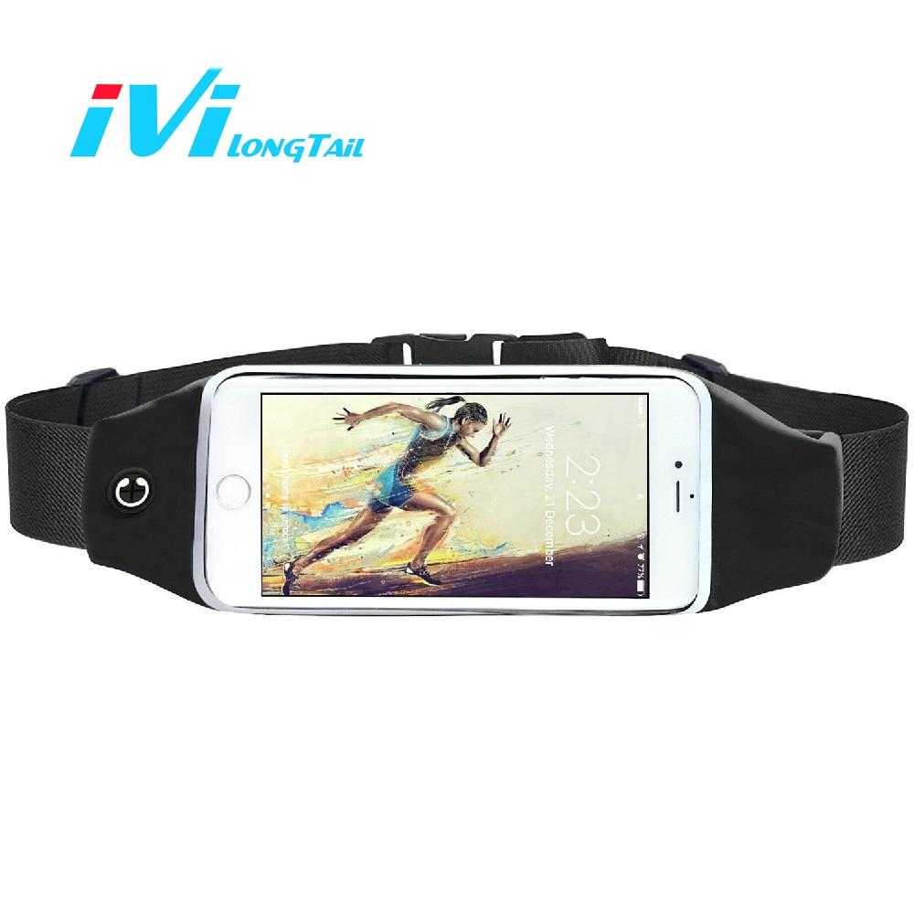 IVI Outdoor Sport Phone Pouch Waist Bag Rainproof Earphone Port Touch Screen Case Cover 4.7~5.5 inch Running Fitness Fishing