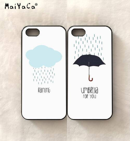 quality design 0dcb5 fa29b US $4.5 |Raining and couple BFF best friends love pair soft silicone phone  cases for iPhone 5s se 6 6s plus 7 7plus 8 8plus X XR XS MAX-in ...