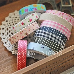 Cotton printed cloth tape/ Korean decorative stickers/ DIY tape, come with pvc package box