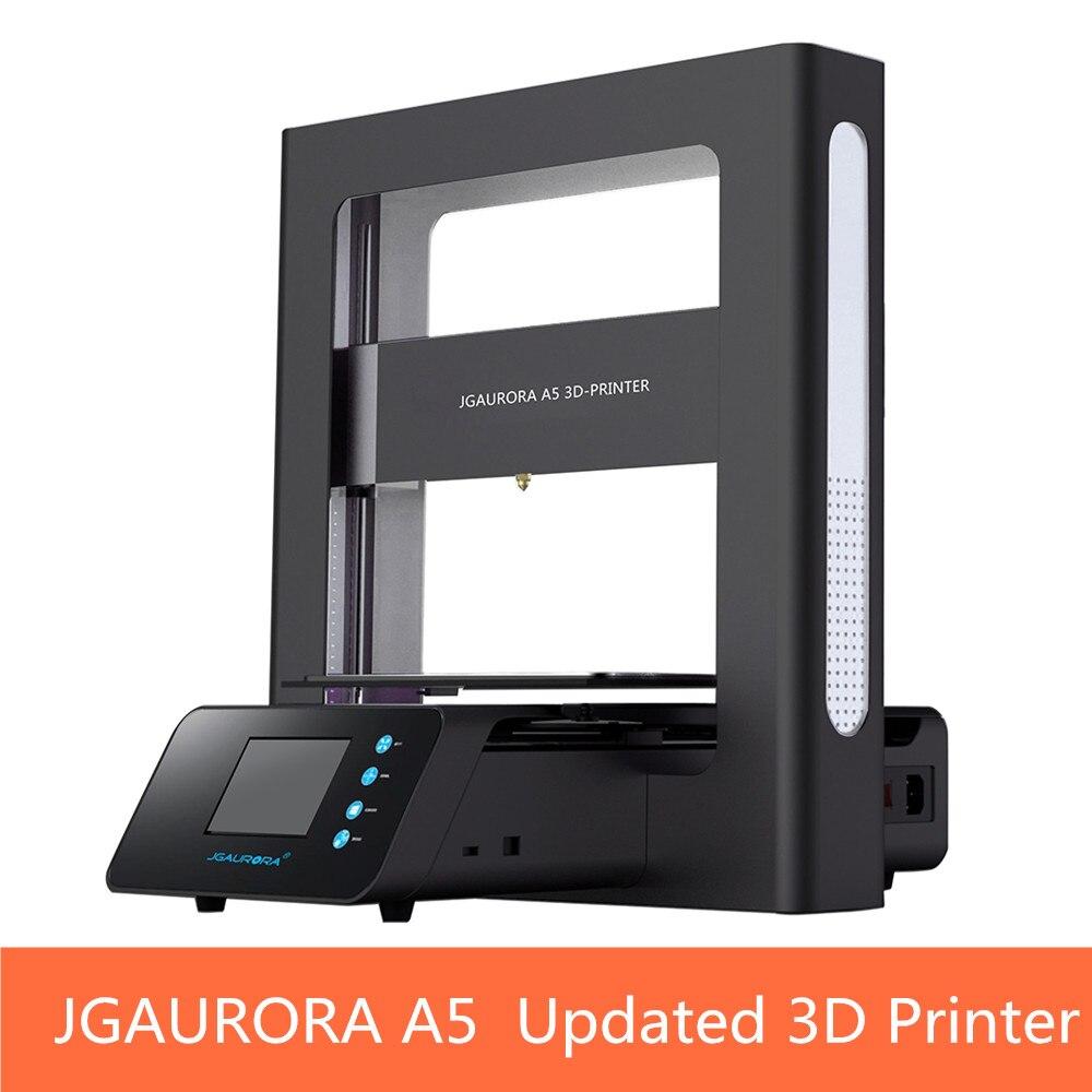 JGAURORA A5 Mise À Jour 3D Imprimante Affichage D'écran D'AFFICHAGE À CRISTAUX LIQUIDES avec Grande Surface D'impression Machine D'impression ABS PLA carte D'ÉCART-TYPE de Soutien