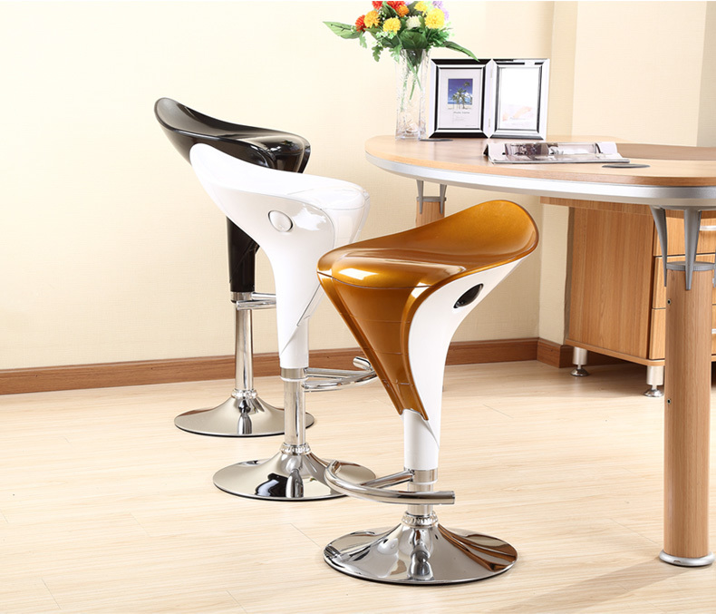 North American commercial bar chair white black color Office Mini PC Computer Stool free shipping 240337 ergonomic chair quality pu wheel household office chair computer chair 3d thick cushion high breathable mesh
