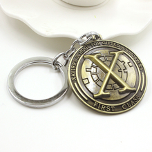 Marvel Comics X-Men Xavier's School For Gifted Youngsters Letter Keychain Vintage Antique Bronze Gothic Cool Key Chains Ring Men
