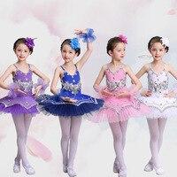Stage Costumes Gor Kids Purple Ballerina Ballet Tutu For Child Children Kids Girls Pancake TuTu Dance Costumes Ballet Dresses