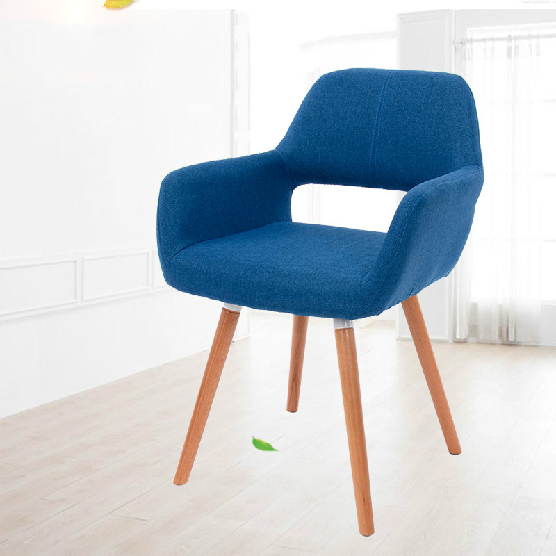 Coffee Chair Minimalist Modern Solid Wood Dining Chair Single Household Leisure Backrest Sofa Chair Computer Chair 240337 ergonomic chair quality pu wheel household office chair computer chair 3d thick cushion high breathable mesh