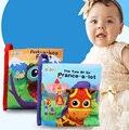De dibujos animados Lindo juguetes desarrollo temprano infantil los niños animales libros de tela suave para bebés niños educación aprendizaje historia libro de Regalo