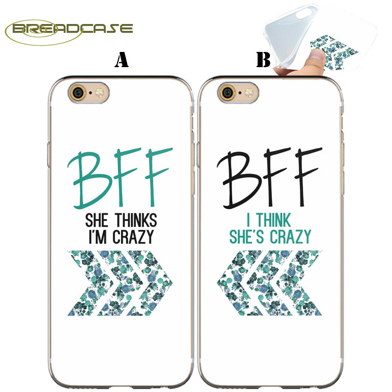 Fundas Floral Sister Best Friend Clear Soft TPU Silicone Cover For