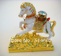Feng Shui Bejewelled Wind Horse metal horse sculpture W8992