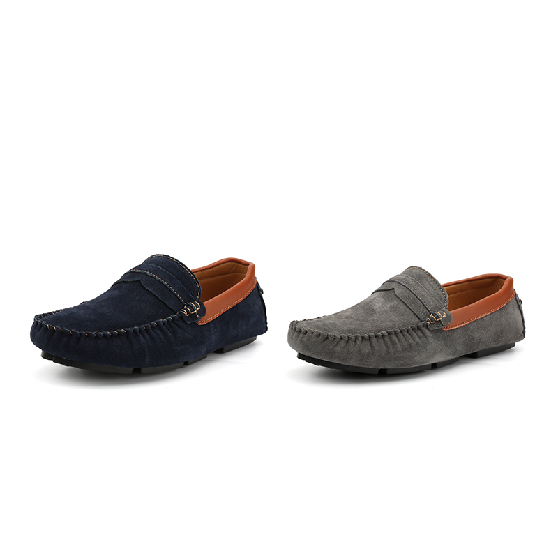 Ngouxm Loafers Men Spring Autumn New Fashion Casual Moccasins Man Slip On Suede  Leather Mens Casual Loafers Men Moccasin Shoes-in Men s Casual Shoes from  ... 11d6de19690f