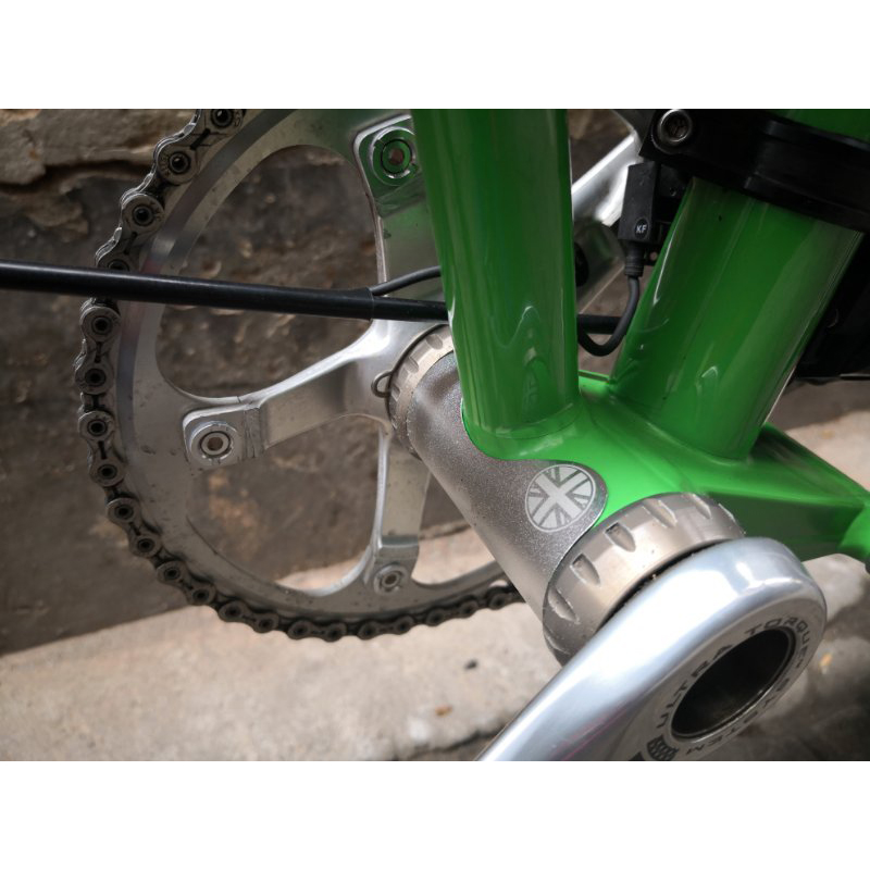 Folding Bicycle Central Axle Aluminum Alloy For Brompton Bottom Brackets Protection Sticker