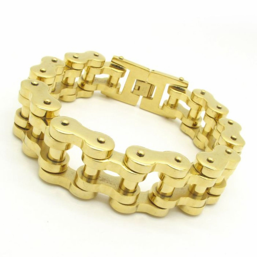 Bracelet Men S Accessories 22mm Huge Heavy Motor Bike Chain Motorcycle Fashion Gold Jewelry In Link Bracelets From