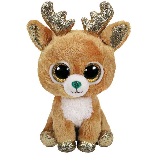 Ty Beanie Boos Glitzy Christmas Reindeer Plush Toys Cute Big Eyes Stuffed  Animals 15CM 6   Baby Kids Toys for Children Gifts c7e919f7efbd