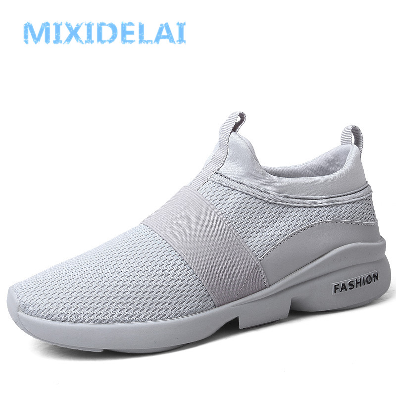 9d18375ed717 MIXIDELAI Spring Autumn New models men shoes 2019 fashion comfortable youth  casual shoes For Male soft mesh design lazy shoes-in Men s Casual Shoes  from ...