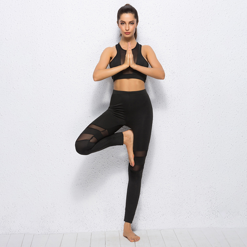 Sexy Running Dance Spice Tights Sports Yoga Spice Mesh Pants Gym Workout Sport Leggings Fitness For Women Excercise Trousers tights